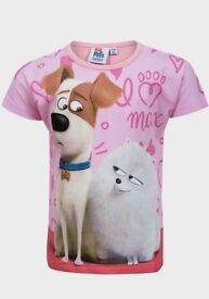 Girls Disney Secret Life of Pets T-Shirts ( New with Tags )