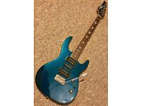 Johnny Brook Superstrat Aqua Blue w/ trem- gig bag included