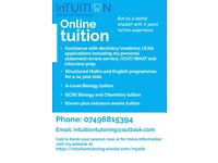 Affordable A-Level/GCSE/UCAT/BMAT tuition/UCAS dentistry application assistance