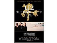 1 x U2 Red Zone VIP Ticket Joshua Tree Tour 2017