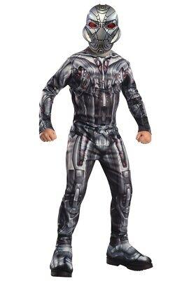 Jungen Kind Muskel Brust Ultron Deluxe Marvel Avengers 2 Lizensiertes - Kind Avengers 2 Deluxe Ultron Kostüm