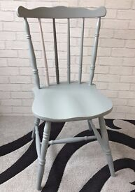 Painted farmhouse kitchen chairs