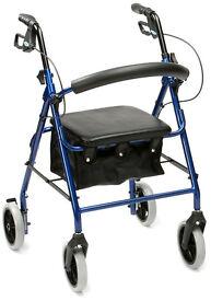 DRIVE MEDICAL R8BL-23 WALKER, ROLLATOR ,LIGHTWEIGHT, ALUMINIUM, NEW, BOXED, MINT