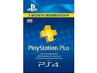 PS+ 3 months membership code