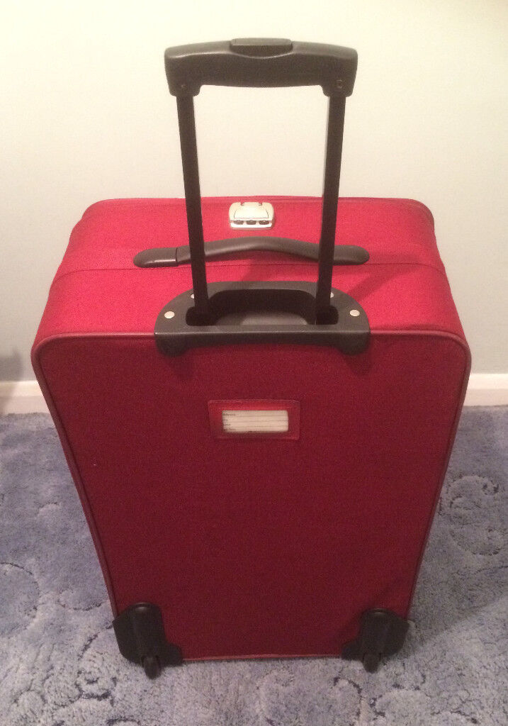 "Large Red 2 Wheeled Trolley Suitcase 28"". Collect Benhall"