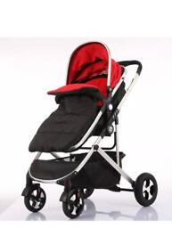 New Fly Kids Pram Travel System 3 in 1 Combi Stroller Buggy Baby Child Pushchair