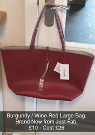 Just Fab Large Bag - Brand New