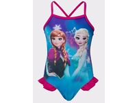 BNWT Disney Turquoise Frozen Design Swimsuit FREE POSTAGE