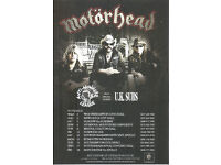 Motorhead The Wörld Is Yours UK Tour Official Glossy Card Flyer. Includes Two Cancelled Gigs.