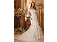 Stunning Mori Lee embroidered lace wedding dress
