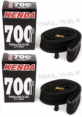 2-Pack Kenda 700 x 35-43C Hybrid Bike Inner Tubes 48mm Schrader Valve SV