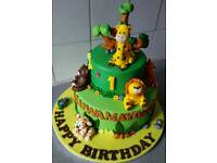 Children's birthday cakes and cupcakes