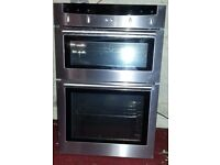 **BARGAIN**NEFF U1442N0GB electric double oven + grill + hood with LED lights