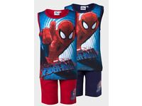 boys 2 piece spider man outfit red/blue
