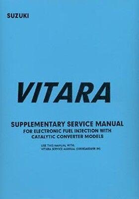 SUZUKI Vitara Shop manual Supplement book paper
