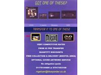 VIDEO TAPES, RECORDS, CASSETTES TRANSFERED TO DVD/CD /MEMORY STICK