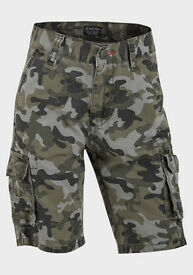 Life and Legend Boys Camo Denim Shorts new with tags