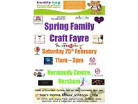 Spring Family Craft Fayre - February 25th at the Normandy Centre, Horsham