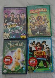 Kids DVD bundle Disney Camp Rock 1 / Camp Rock 2: The Final Jam Madagascar 2 Tinkerbell