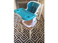 Ingenuity chairmate highchair - peacock blue