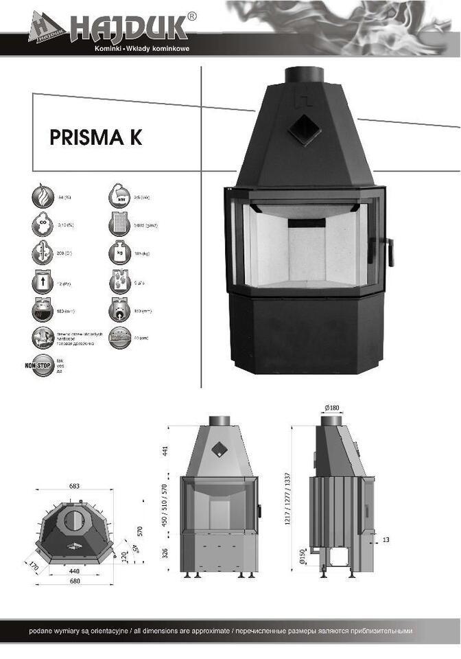 Hajduk Kamineinsatz Kamin Ofen Prisma M 8,8kw und K 9,5kw in Espelkamp