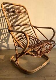 Mid century vintage rattan/wicker/bamboo retro armchair