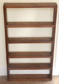 SOLID OAK RECLAIMED WOOD LARGE SPICE RACK