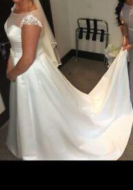 Wedding Dress, size 12 - £450