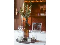 Wedding /Event Centrepiece Slate Plates/Candle Holders/Table Number Holders