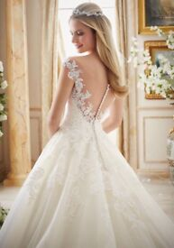 Mori Lee 2889 bridal dress size 14- new/unworn- hasn't been altered to fit.