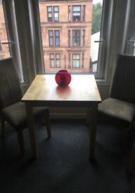 Dining table & two chairs £75