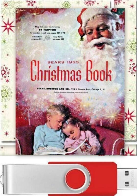 Vintage 1955 Sears Christmas Wishbook / Catalog On USB Drive Toys Clothes & More