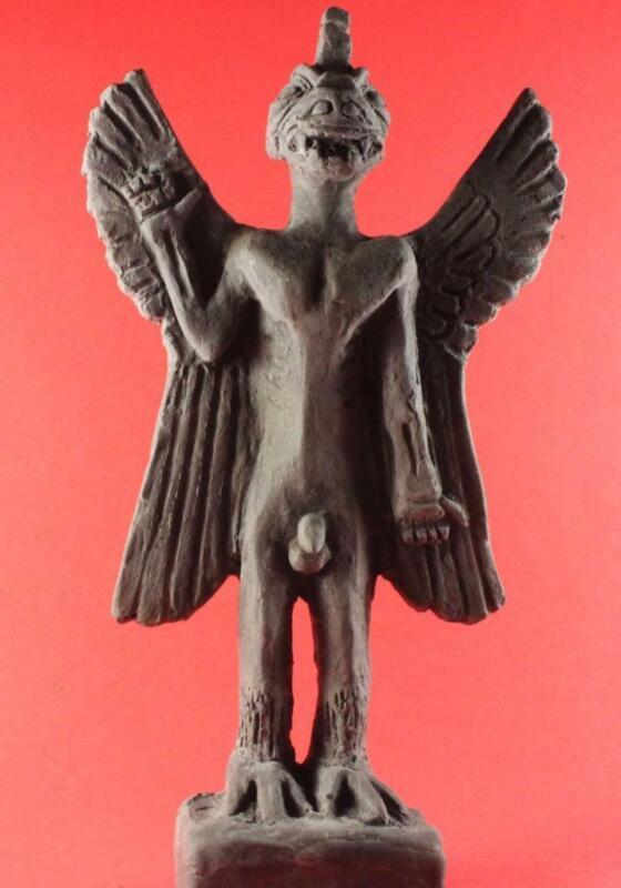 ANCIENT SUMERIAN DEMON PAZUZU Father of all Demons 20cm black stone statue