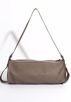 HERMES Womens Etoupe Clemence Leather Sac DOREMI 45 Shoulder Bag Handbag 2011