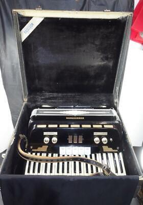 Vintage Accorgan Italian Accordion 24 Keys 120 Bass Buttons ITALY w/ Case !