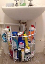 2-shelf under basin bathroom sink