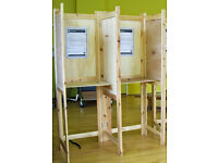 DOUBLE wooden POLLING BOOTH – Folds flat - Ideal for art or trade Exhibition