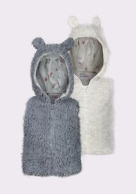 Minoti Girls Faux Fur Gilet
