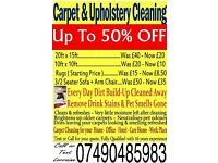 Up to 50% Off Carpet & Upholstery Cleaning