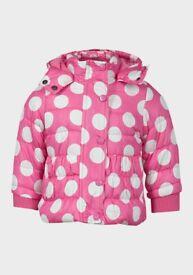 Minoti Girls Spot Print Puffer Jacket