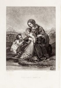 Children-Playing-Steel-Engraving-c1850-THE-HOLY-FAMILY