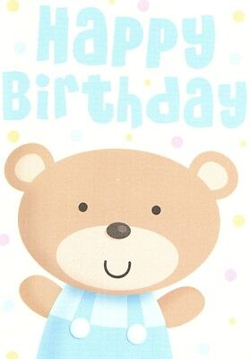 (13639) Birthday Card - Bear - Happy birthday - Wishing You a Special Day inside on Lookza