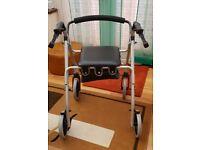 Aidapt walking frame with wheels, seat, basket & brakes