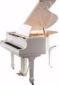 Brand New Steinhoven SG148 White Baby Grand Piano