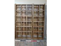 Pair 3 cols + 2 cols pigeon-holes bookcase display wall furniture BRIGHTON gplanera