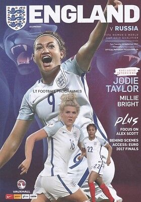 * 2017 - ENGLAND v RUSSIA (WOMEN'S WORLD CUP QUALIFIER - 19th September 2017) *
