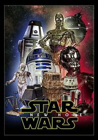 Star Wars : A New Hope / Droids Laminated A4 & a3