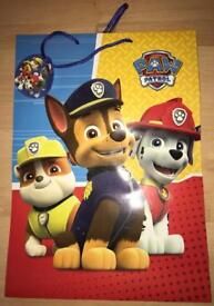 Large Paw Patrol gift bag - brand new