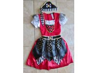 Girl's Pirate Fancy Dress Costume with bandana Age 11-12 years VGC