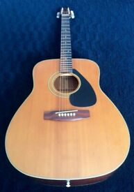 Vintage 1975 Yamaha FG-160 -1 Acoustic Guitar / Black Label for sale